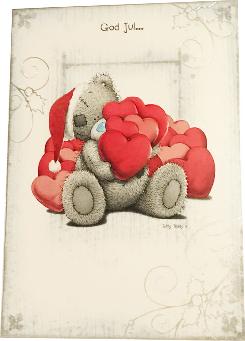 Kort, God Jul (Nalle håller i hjärtan) - Me To You