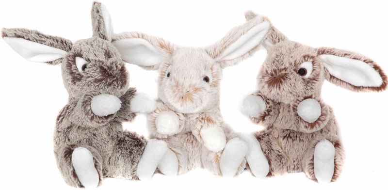 Kanin liten, 16cm - Molli Toys (Ljus brun)