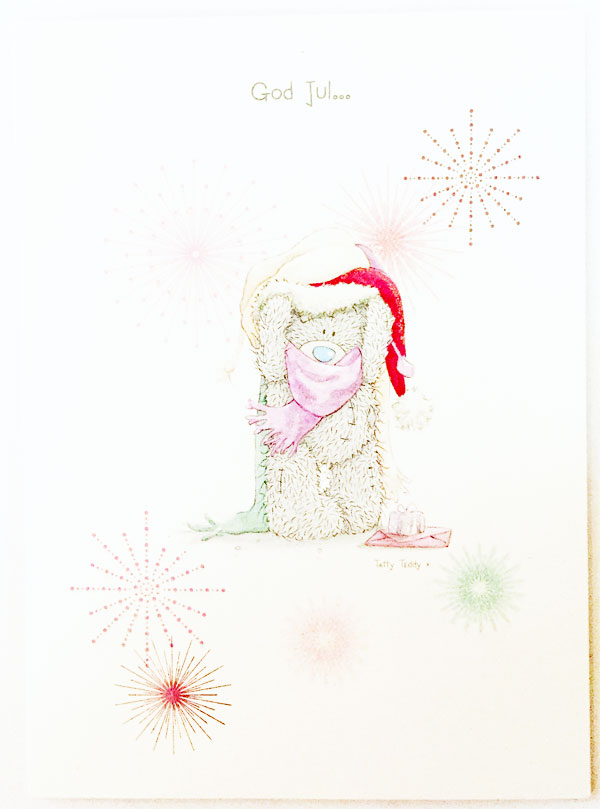 Kort, God Jul (Nalle m. halsduk) - Me To You