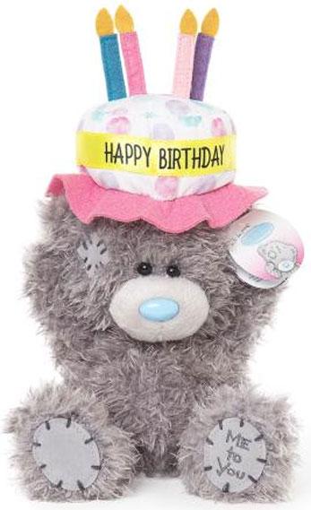 Nalle Happy Birthday på hatt, 15cm - Me To You (Miranda Nalle)
