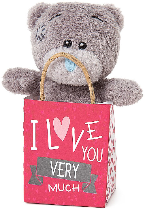 Nalle i påse, I Love You Very Much, 10cm - Me To You