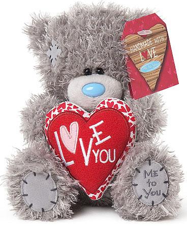 Nalle, Love You på rött hjärta, 15cm - Me To You
