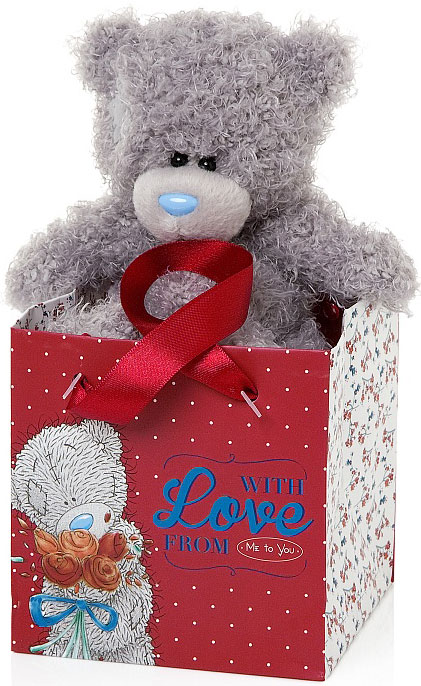 Nalle i presentpåse, With Love, 13cm - Me To You