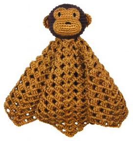 Mr Monkey, virkad snuttefilt från NatureZoo