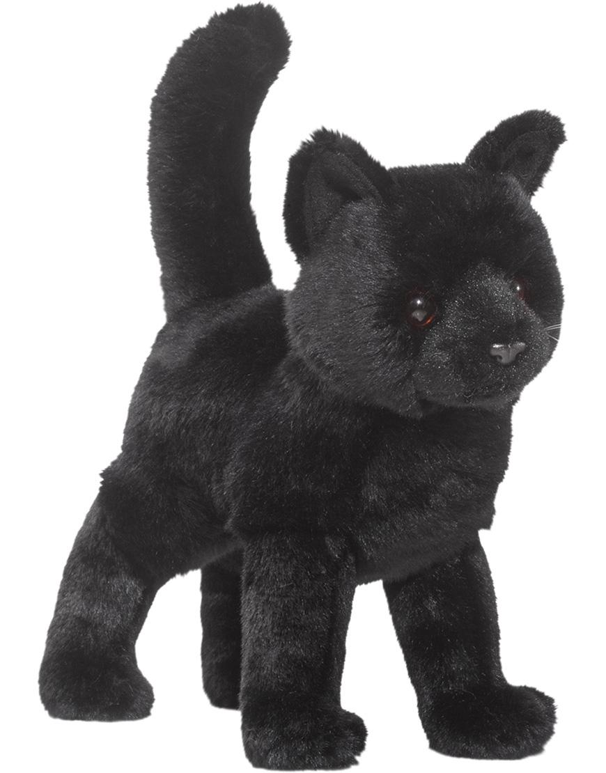 Svart huskatt, 25cm - Douglas Mjukisdjur